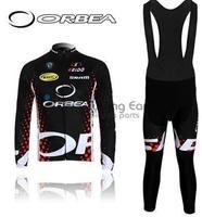 Free shipping! ORBEA 2011 black Winter clothes long cycling jersey bib pants bike bicycle thermal fleeced wear+Plush fabric N23P