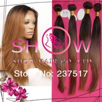 Princess human virgin hair products brazilian virgin hair ombre color 3pcs lots Length 8-30 Inch brazilian human virgin hair
