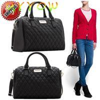 2015 mango package black leather bucket handbag bucket bag plaid bag mng bag women's handbag fashion bag