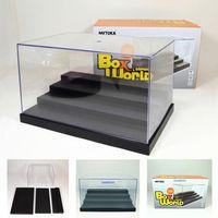 "1:12 Dollhouse Miniature Boxs Clear UV Acrylic/Plastic Display Box Case Dustproof Tray Protection 4Step 9.8""(L)x6.69""(W)x5.5(H)"