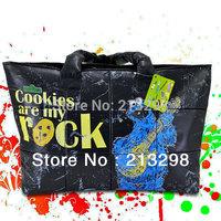 2014 winter cotton tote bags women handbag, wholesale cotton-padded shiny nylon shoulder bags for woman, black color PS-02B