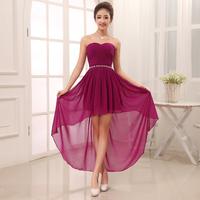 Evening dress 2014 dress short in front long back for wedding  prom dress party evening elegant robe de soiree vestidos kaftan