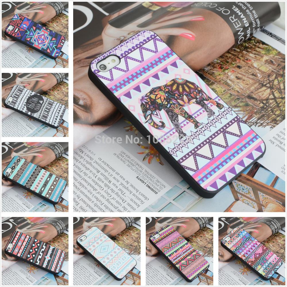 Elephant Print Animal Phone Case,Aztec Phone Case With Elephant Print,Cheap For Iphone 4 5 Case Cover(China (Mainland))