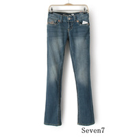 Seven7 Jeans Women Brand New American Apparel Loose Flare Jeans Vintage Denim Jeans trousers Plus Size 2-12