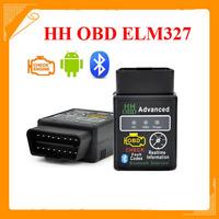 2014 new arrival Good Auto Car ELM327 HH Bluetooth OBD 2 OBD II Diagnostic Scan Tool elm 327 Scanner free shipping
