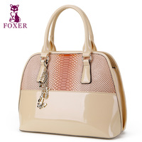 FOXER new 2014 women messenger bags genuine leather handbag fashion wristlets bag vintage tote women shell bag famous brands