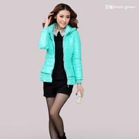 Plus Size 3XL-6XL(bust 120cm ) 2014 New Winter Woman Jacket Fashion Parkas Wadded Coat Padded Women's Overcoat 3xl 4xl 5xl 6xl