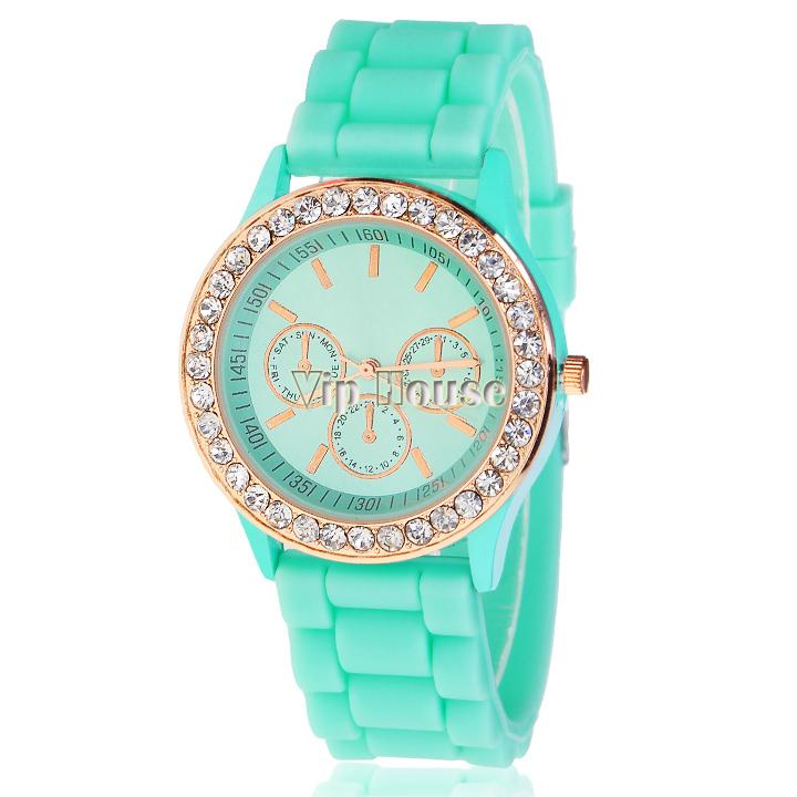 New Fashion wristwatches Ladies silicone jelly watch quartz watch for women men TOP Quality dress watch 10 colors 18855(China (Mainland))