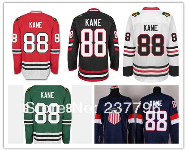 2014 Sochi Team USA Patrick Kane Jersey Chicago Blackhawks #88 Team Ice Hockey Blue Men All Stitching Quality(China (Mainland))