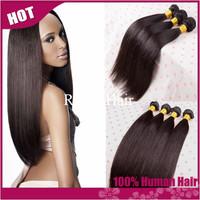 "RY hair:peruvian virgin hair straight 3pcs lot,cheap peruvian hair 8""-30"" natural black remy human hair extension tangle free"