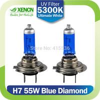 XENCN H7 12V 55W 5300K Xenon Blue Diamond Light Car Headlight Halogen Bulbs Xenon Ultimate White Head Lamp Free Shipping 2pcs