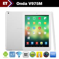 9.7 inch Onda V975M tablet PC IPS Retina 2048X1536 Amlogic M802 Quad Core 2.0GHz 2GB RAM 32GB HDMI 5.0MP Camera Multi language