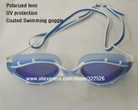 men women Whale polarized  swimming glasses outdoor UV protection anti-UV anti-fog coated  polarized swimming goggles