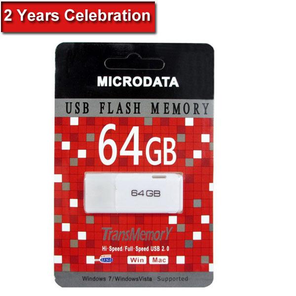 Hot 64GB USB Flash Drive Pen Drive Pendrive Flash Drive Card Memory Stick Drives Pendrives U Disk MicroData Cheap 2014 New A+(China (Mainland))