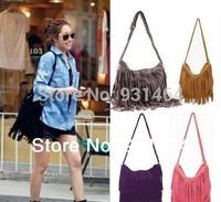 New 2014 Tassel  Women Handbags  Women messenger Bag Lady Cross Body Shoulder bag bolsas Free Shipping