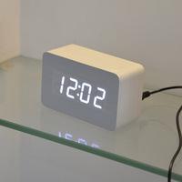 2014 new designer Thermometer LED Digital clock, Sounds control Alarm clocks,desktop table clock for drop shipping