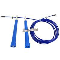 Big Discount!!8pcs/Lot 2.8M Durable Steel Wire Rope Skip Skipping Adjustable Jump Rope Crossfit 41