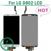 Replacement LCD Screen With Touch Screen Digitizer Assembly For LG Optimus G2 D802 Black White Free Shipping