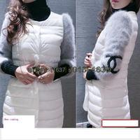 Free shipping 2014 women's winter slim medium-long cotton-padded jacket outerwear winter wadded jacket