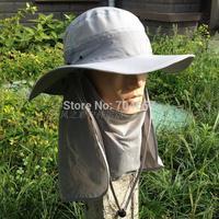 2014 Outdoor Men Women Summer Quick Drying Neck Face UV Protection Fishing Sun Hats Mountain Climbing Bucket Sun Cap