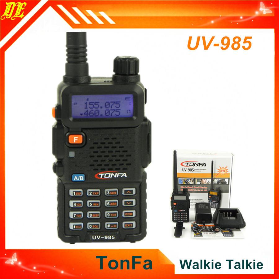 Tonfa UV-985 Dual Band Cheap Walkie Talkie UV985 VOX DTMF Offset Two Way Radio Intercom Transceiver portable radio(China (Mainland))