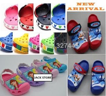 Бесплатная доставка 2014 мультфильм 3D модель детские сабо сад обуви для детей сандалии тапочки мальчиков и девочек малыша обувь