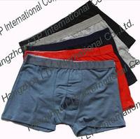 HOT SALE Wholesale New Men's Underwear 5 Colors Men's Boxer 93% Cotton  Boxer In The Waist Solid Color Boxer 5 Pc/Lot