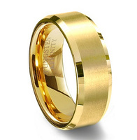 Tungsten Carbide 18k Gold Plated Ring for Men,Enagement/Wedding Band,Alliance Jewelry Gift,Factory Price,Free Shipping,TU051R