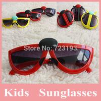 Hot Sell 5 pcs/lot Fashion Folding Sunglasses for Kids, Sun-Shading Mirror Baby Fashion Sunglasses, Multi-Colors Kids Sunglasses