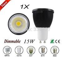1pcs/lot GU10 / E27 E14 / B22 / GU5.3 / MR16 Dimmable COB Spotlight Bulb LED Lamp 9W 12W 15W AC110-240V free shipping