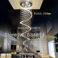 Ball Spiral Art Luminaire Decoration Luster Pendant Lamp Designer Ceiling Chandeliers Luxury Large Modern Chandelier K9 Crystal