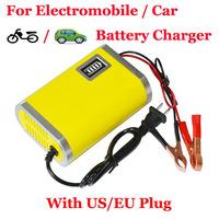 US Plug / EU Plug Adapter Output 13.8V 6A Motorcycle Car Battery Charger GQC18