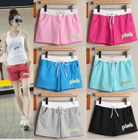 2014 shorts,wholesale females summer shorts Women Alphabet Pattern Loose mid High Elastic Waist Casual Sport Shorts