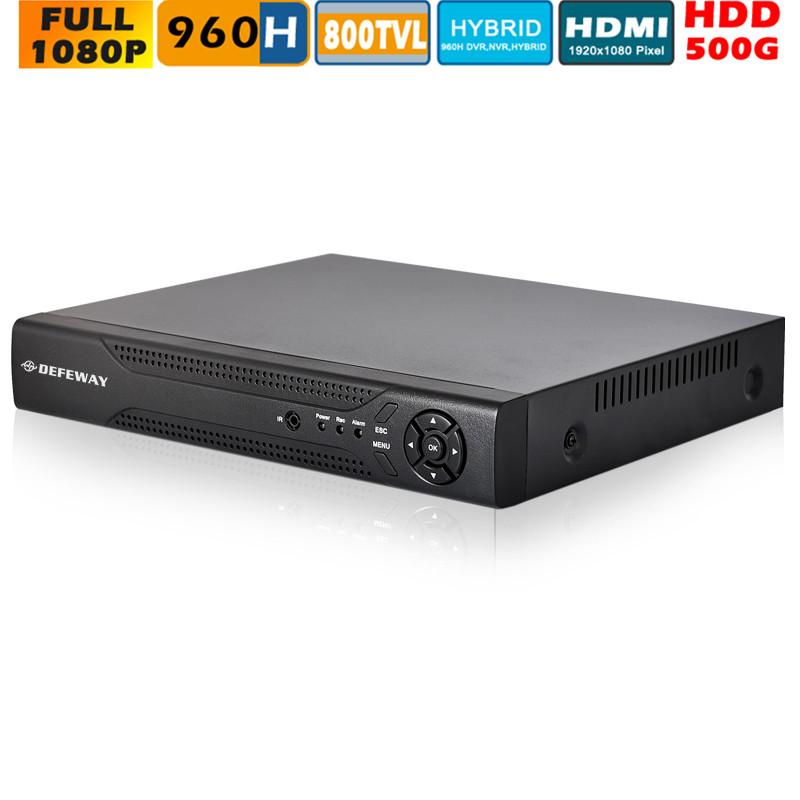 Smartphone view 8ch 960h Full D1 DVR Surveillance CCTV System Hybrid NVR for IP camera