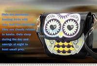 2014 Drop shipping new style Good leather handbag candy color cartoon bag owl shoulder bags women messenger bag SV001125 b009