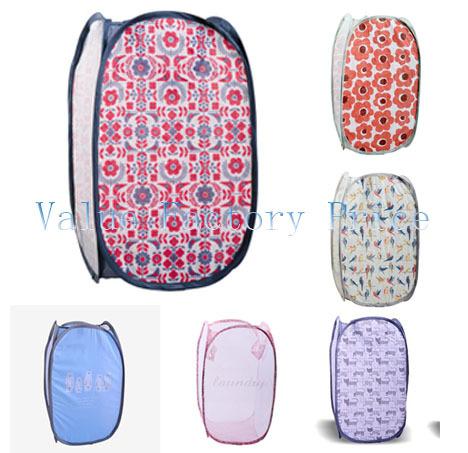 Dirty Clothes Laundry Basket Folding Clothes Portable Clothing Storage Basket 23*48cm(China (Mainland))