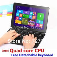QTECH-101G 10 Inch Convertible Ultrabook Intel Quad Core Windows 8.1 PRO Tablet PC Detachable Keyboard Russian vs surface pro