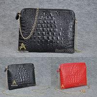Promotion 2014 new real genuine leather crocodile women handbag clutch bag messenger bag shoulder bag Day clutch women gift