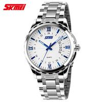 Luxury Business Casual Men Watch SKmei Brand High quality Military Watches Full Steel Fashion Quartz Wrist watch 30m Waterproof