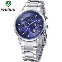 WEIDE Watches Men Quartz Sports Watch Diver Luxury Brand Men Full Steel Calendar 30m Waterproof Casual Dress Wristwatches