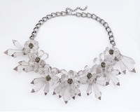 Brand Jewelry Luxe  Crystal Floral Choker Necklace Fashion Statement Necklace cxt9125