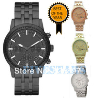 New 2014 Free Shipping Silver Black Rosegold Man Fashion Brand Quartz Watches With Date Boys Men's Accessories Jewelry Gifts Box