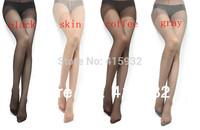 Hot Sale Sexy Semi Sheer Full Foot Womens Thin Tights Pantyhose 4Colors Free Shipping
