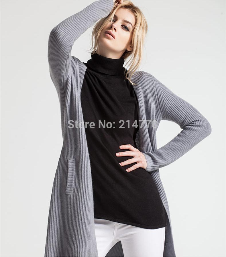 specials breaking code women's long dust coat cardigan 100% cashmere fashion sweater EU size S free shipping(China (Mainland))