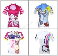 New 2014 Fashion  Women Cycling Jersey Biking Clothing Rider Shirt Wear Paladinsport Girls Rider Shirt  top quality ride tops