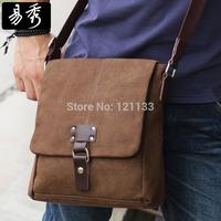 Eshow fashion design Men's Brown Messenger Bag Vintage Canvas Shoulder Bag Crossbody bag BFK010721