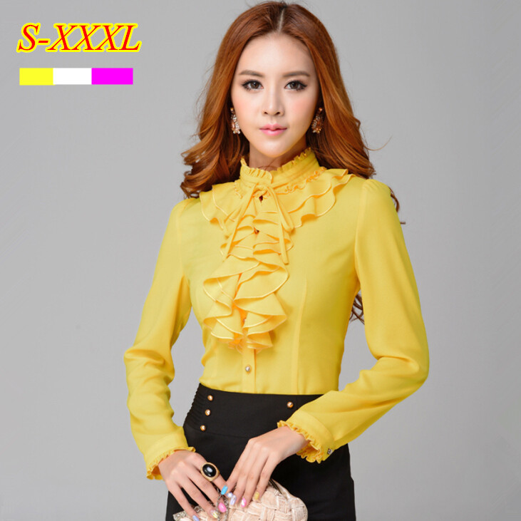 Yellow Blouse Ladies 49