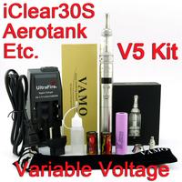 2600mAh VAMO V5 Electronic Cigarette Kit with Authentic Protank 3 Aerotank V2 Mega or Nautilus Atomizer/Stainless Steel 2014 New