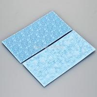 Free Shipping 1 set 15 x 7 cm Mayan Sun & Floral Swirls Lace Impression Mat Cake Emboss Fondant Chocolate Sugar
