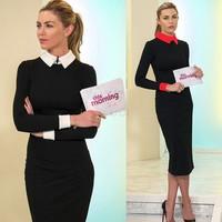 2014 New Hot Selling Elegant Lady Dress Cute Brief Office Dress S To XXXL Fashion Lady Spring Autumn Winter Dresses #3 SV001986
